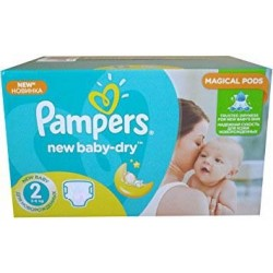Giga Pack d'une quantité de 320 Couches Pampers New Baby taille 2