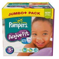Maxi giga pack 174 Couches Pampers Active Fit taille 5+ sur 123 Couches