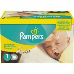 Pack économique d'une quantité de 324 Couches de Pampers New Baby Dry de taille 1 sur 123 Couches