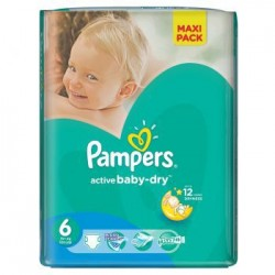 Pack 36 Couches de la marque Pampers Baby Dry de taille 6 sur 123 Couches