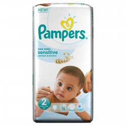 Pack 60 Couches Pampers New Baby Sensitive de taille 2