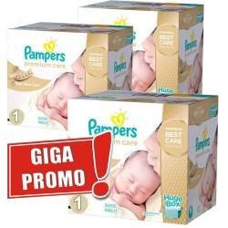 Pack économique Jumeaux de 1012 Couches Pampers Premium Care de taille 1