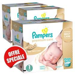 Maxi Giga Pack Jumeaux 506 Couches de la marque Pampers Premium Care de taille 1 sur 123 Couches