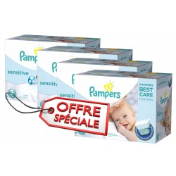 Maxi Giga Pack Jumeaux de 540 Couches Pampers New Baby Sensitive taille 2