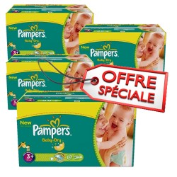 Giga Pack 680 Couches de Pampers Baby Dry taille 3+