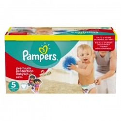 Maxi Pack 152 Couches Pampers Easy Up de taille 5 sur 123 Couches