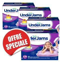 Maxi giga pack 200 Couches Pampers Underjams - pour Filles taille S/M sur 123 Couches