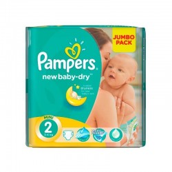 Pack d'une quantité de 68 Couches Pampers New Baby Dry de taille 2