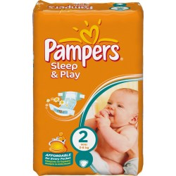 Pack 18 Couches Pampers de la gamme Sleep & Play de taille 2