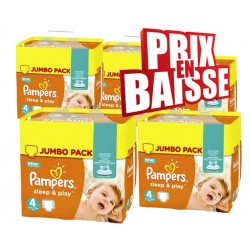 Pack économique de 550 Couches Pampers Sleep & Play taille 4 sur 123 Couches