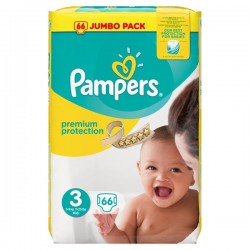 Pack 66 Couches Pampers Premium Protection 3