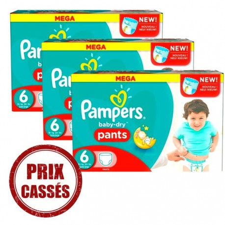 Gros pack 105 Couches Pampers Baby Dry Pants 6 sur 123 Couches