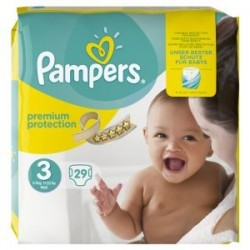 Pack 29 Couches Pampers Premium Protection 3 sur 123 Couches