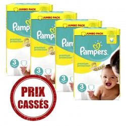 Pack économique 232 Couches Pampers Premium Protection 3