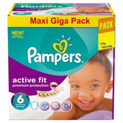 Giga Pack 248 Couches Pampers Active Fit taille 6 sur 123 Couches