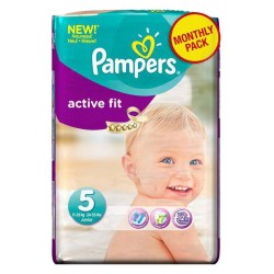Pack 58 Couches Pampers Active Fit taille 5 sur 123 Couches