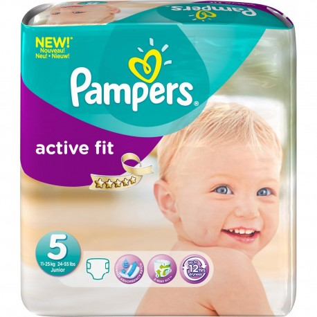 Couches Pampers Active Fit Taille 5 à Bas Prix 45 Couches Sur