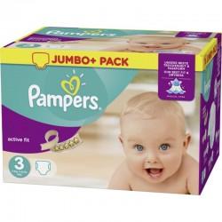 Pack d'une quantité de 120 Couches Pampers Active Fit de taille 3 sur 123 Couches