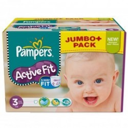 Pack 120 Couches Pampers Active Fit taille 3 sur 123 Couches