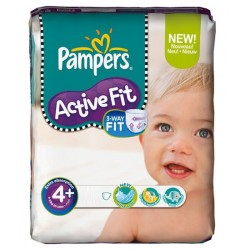 Pack de 50 Couches Pampers Active Fit de taille 4+ sur 123 Couches