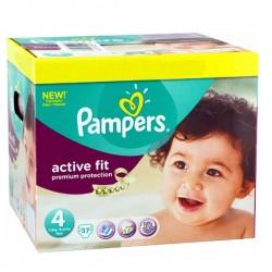 Pack 37 Couches de la marque Pampers Active Fit de taille 4 sur 123 Couches