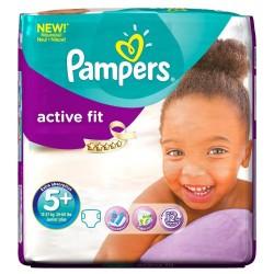Pack 58 Couches Pampers de la gamme Active Fit de taille 5+