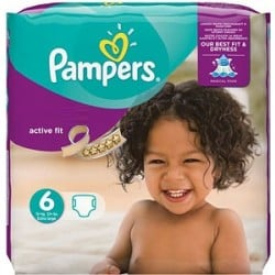 Pack 31 Couches Pampers Active Fit taille 6 sur 123 Couches