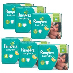 Maxi Giga Pack 301 Couches Pampers Baby Dry sur 123 Couches