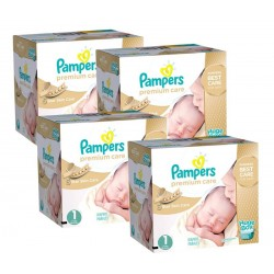 Mega Pack 308 Couches Pampers Premium Care taille 1