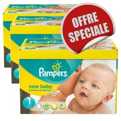 Maxi Mega pack 516 Couches Pampers New Baby Dry 1 sur 123 Couches