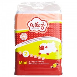 Pack 60 couches Wilogi Taille 2 Mini (3-6kg)