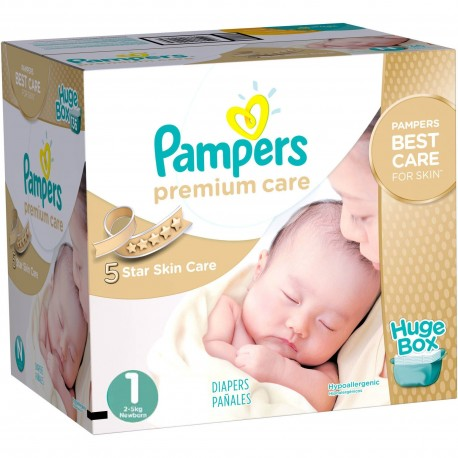 Maxi pack 164 Couches Pampers Premium Care taille 1 sur 123 Couches