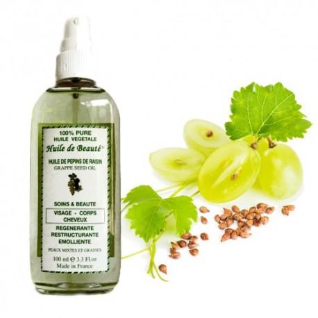 Huile de beauté aux pépins de raisin 100% végétale et pure sur 123 Couches
