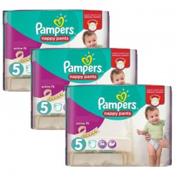 Mega pack 170 Couches Pampers Active Fit Pants taille 5