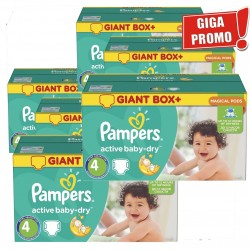 Maxi Pack 792 Couches Pampers Active Baby Dry taille 4