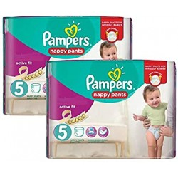 Mega pack 136 Couches Pampers Active Fit Pants taille 5