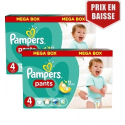 Giga Pack 282 Couches Pampers Baby Dry Pants taille 4 sur 123 Couches