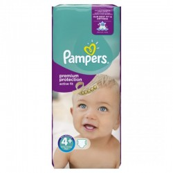 Pack 44 Couches Pampers Active Fit taille 4+ sur 123 Couches