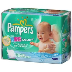Paquet 63 Lingettes Bébés Pampers Fresh Clean - Made in Japan sur 123 Couches