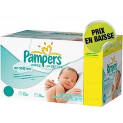 Pack économique 576 Lingettes Bébés Pampers Sensitive Baby