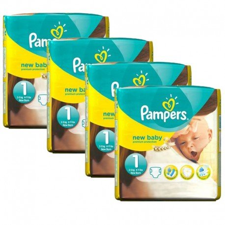 maxi pack 115 Couches Pampers New Baby taille 1 sur 123 Couches