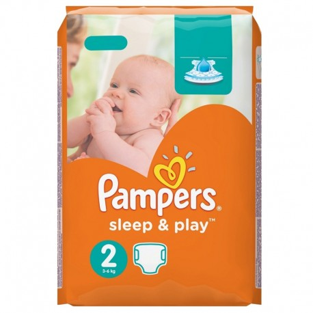 Pack 68 Couches Pampers Sleep & Play taille 2 sur 123 Couches