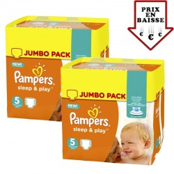 Giga pack 476 Couches Pampers Sleep & Play taille 2 sur 123 Couches