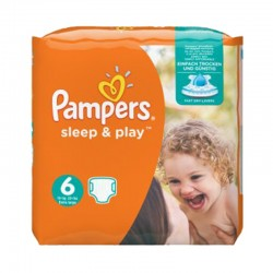 Pack 58 Couches Pampers Sleep & Play taille 6