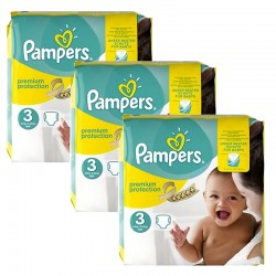 Maxi Giga Pack 240 Couches Pampers Premium Protection - New Baby taille 3 sur 123 Couches