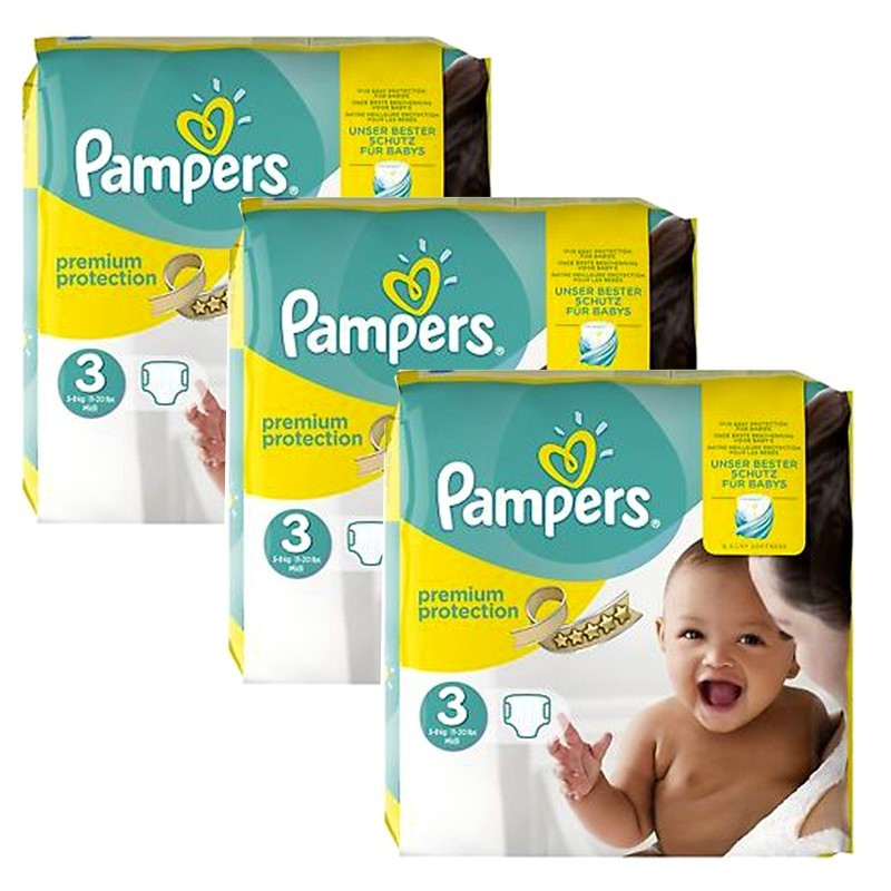 240 couches pampers premium protection taille 3 petit prix sur 123 couches - Couches pampers new baby taille 3 ...