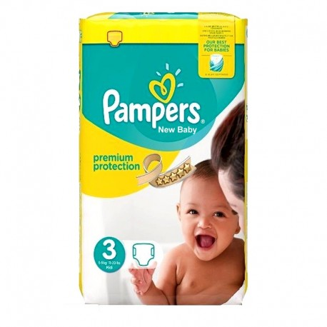 Pack 29 Couches Pampers Premium Protection - New Baby taille 3 sur 123 Couches