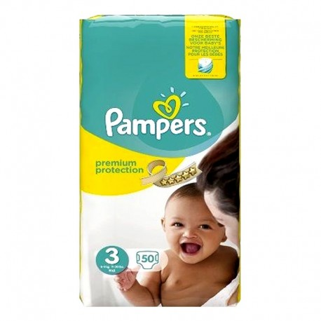 Pack 50 Couches Pampers Premium Protection - New Baby taille 3 sur 123 Couches