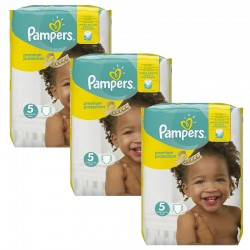 Giga Pack 204 Couches Pampers Premium Protection - New Baby taille 5