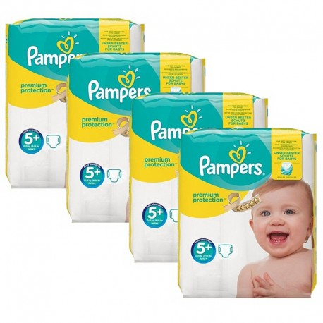 Mega Pack 160 Couches Pampers New Baby Premium Protection taille 5+ sur 123 Couches